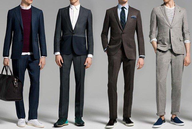 Можно ли носить кроссовки или кеды с костюмом