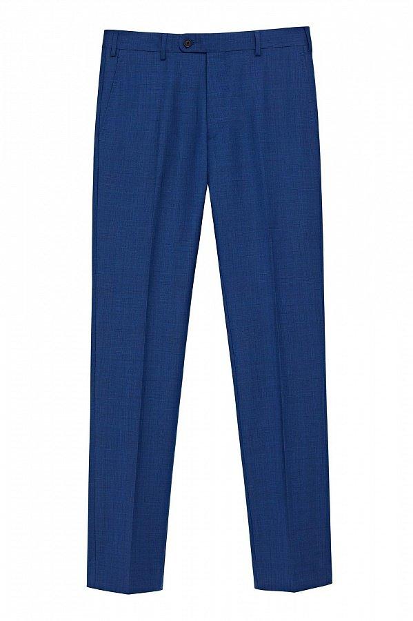 Костюмные брюки синего цвета в неброскую клетку 405BA купить по цене ... 7d1af035d35